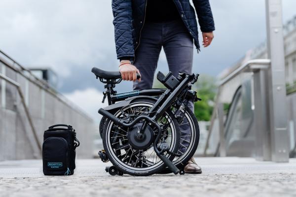 folding e-bike, brompton folding ebike